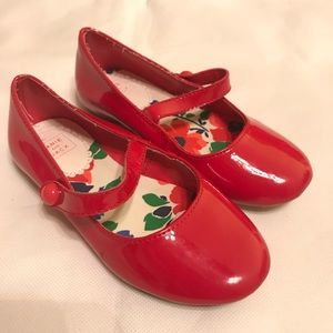 Janie and Jack Italian Flower Red Shoes 9
